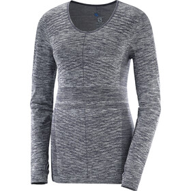 Salomon Elevate Move'On - T-shirt manches longues running Femme - gris